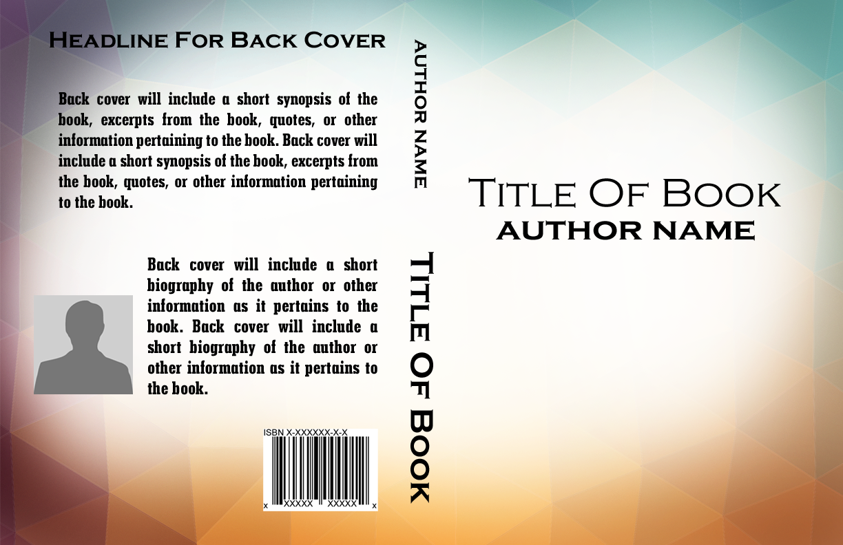 Book Back Cover Template : Basic book cover templates self publishing relief