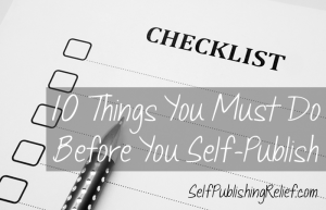 Before You Self-Publish